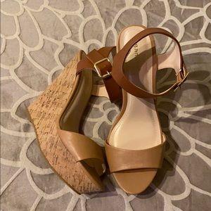 Bamboo wedge heels